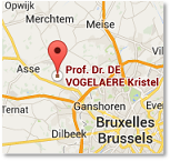 Google Maps with indication of Prof. Dr. Kristel De Vogelaere - Surgeon